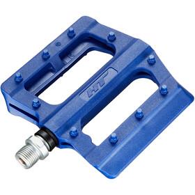 HT PA12 Nano Flat Pedals blau